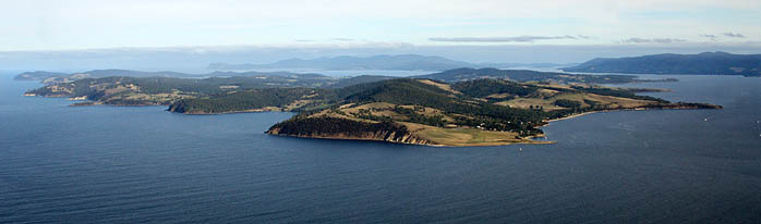 Bruny Island viewed from Hobart